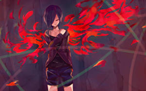 Hintergrundbilder Tokyo Ghoul Shorts Kirishima Touka Anime Mädchens