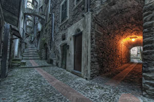 Wallpapers Building Street Stairway Made of stone Cities