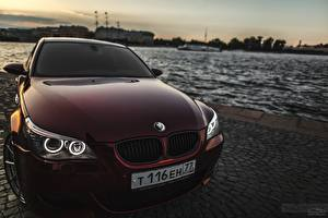 Pictures BMW Front Dark red Headlights m5 Cars