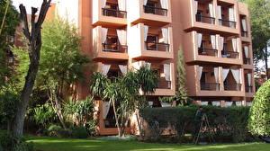 Photo Morocco Hotel Trees Grass Marrakech Cities