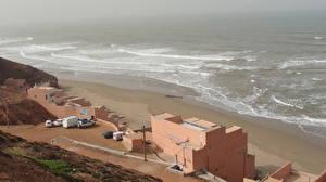 Photo Building Sea Coast Morocco Restaurant Nature
