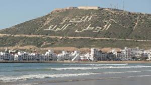 Wallpapers Mountain Sea Houses Coast Morocco Agadir Cities