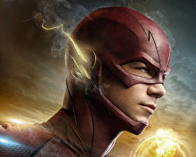 Wallpaper Heroes comics Men Masks The Flash 2014 TV series The Flash hero Head film Fantasy