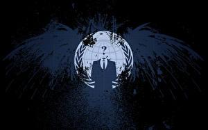 Photo Internet Logo Emblem Wings Anonymous Hacking Informaticos Troyanos