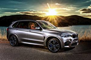 Pictures BMW Side Silver color Sun Rays of light 2015 X5 M AU-spec F15 automobile