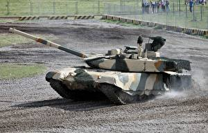 Bureaubladachtergronden Tank T-90 Camouflage T-90MC Militair