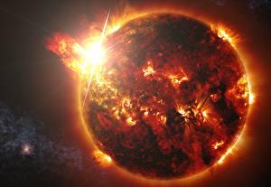 Fotos Nahaufnahme Stern Sonne Kosmos