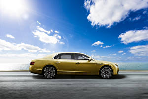 Image Bentley Sky Yellow Metallic Side Clouds 2015 Flying Spur Beluga automobile