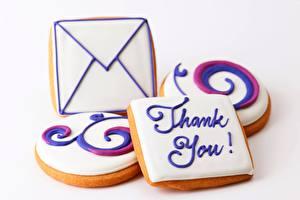 Fotos Kekse Backware Großansicht Brief thank you das Essen