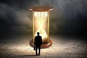 Картинки Мужчина Часы Песочные часы