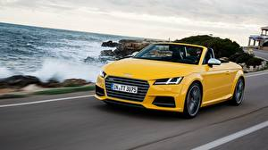 Wallpapers Audi Yellow Cabriolet Roadster 2014 TTS Roadster Cars