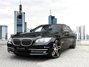 Photo BMW Black Metallic Front Headlights 2015 2G-Power BMW 760i (F01) auto