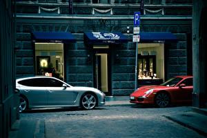 Wallpaper Porsche 2 Street Panamera Cars