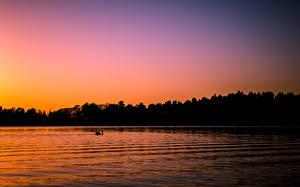 Fotos Finnland See Morgendämmerung und Sonnenuntergang Helsinki Seurasaari Natur