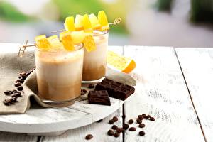 Wallpaper Chocolate Orange fruit Coffee Drink Closeup Cappuccino Grain Food