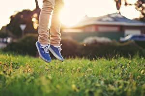 Image Grass Athletic shoe Legs Jump