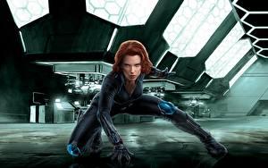 Wallpapers Scarlett Johansson Avengers: Age of Ultron Natalia Romanoff Black Widow Celebrities Girls