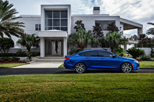 Picture Chrysler Building Light Blue Side Lawn Mansion 2015 200 S automobile Cities