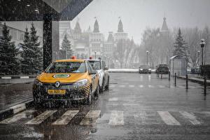 Sfondi desktop Mosca Russia Taxi - Auto Pioggia Città Auto