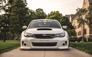 Hintergrundbilder Subaru Vorne Weiß Impreza WRX STi BellyScrapers JDM Rotiform auto