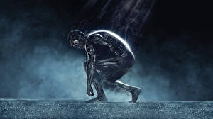 Bureaubladachtergronden Arnold Schwarzenegger Terminator Genisys Robot Metalen T-800 film