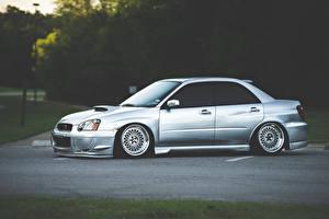 Fotos Subaru Silber Farbe Seitlich Impreza WRX STI Stanceworks JDM
