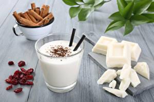 Fotos Cocktail Großansicht Zimt Getränke Schokolade Trinkglas Lebensmittel
