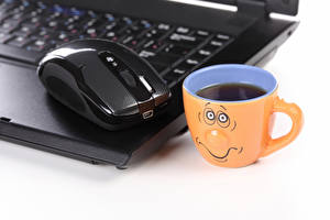 Wallpapers Mouse computing Coffee Smilies Drinks Laptops Cup Computers Food