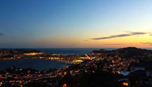 Pictures New Zealand Rivers Sky Night time Horizon Wellington Cities