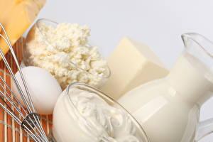 Bilder Milch Großansicht Ei Krüge Lebensmittel