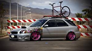 Bilder Subaru Tuning Seitlich Impreza Wagon STI JDM auto