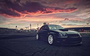 Hintergrundbilder Subaru Himmel Wolke Geparktes impreza wrx sti