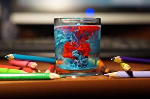 Bilder Großansicht Wasser Trinkglas Pencils
