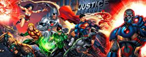 Bakgrunnsbilder Superhelter Supermann helten Batman superhelt Wonder Woman helten The Flash superhelt Justice League DC Comics Darkseid, Aquaman, green lantern, cyborg Unge_kvinner
