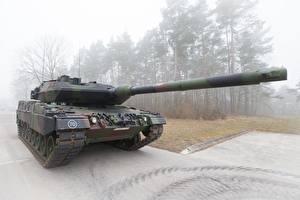 Photo Tanks Leopard 2 Fog Leopard 2 A7 Bundeswehr Army