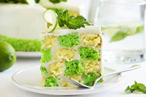 Fotos Torte Backware Süßware Großansicht Zitrone Lebensmittel