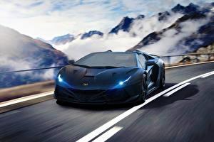 Picture Lamborghini Tuning Luxury Blue Aventador Hyper Supercar Cars