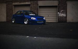 Bilder Subaru Blau impreza wrx sti automobil
