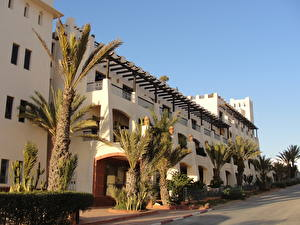 Pictures Building Morocco Street Palms Agadir Cities