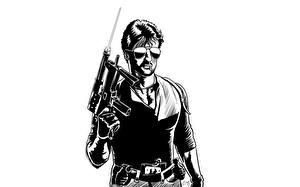 Papel de Parede Desktop Sylvester Stallone Desenho vetorial Homem Óculos Cobra Filme Celebridade