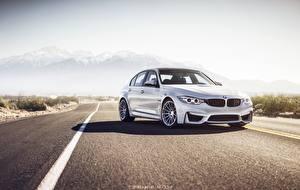 Hintergrundbilder BMW Straße Weiß Asphalt M3 F80 auto