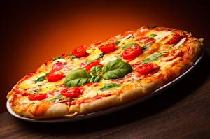 Hintergrundbilder Fast food Pizza Tomate Blattwerk Königskraut Lebensmittel