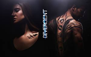 Wallpaper The Divergent Series: Insurgent Man Two Tattoos Human back Movies Girls Girls