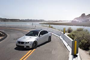 Papel de Parede Desktop BMW Estradas Prata cor m3 e92 automóveis