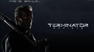 Bureaubladachtergronden Terminator Genisys Arnold Schwarzenegger Films