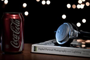 Image Coca-Cola Closeup Book Headphones