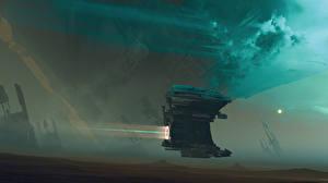 Bureaubladachtergronden Schepen Sci-Fi Fantasy Ruimte