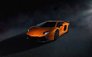 Photo Lamborghini Orange Luxury Aventador LP700-4 automobile
