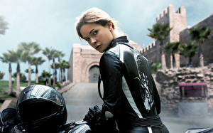 Hintergrundbilder Mission: Impossible Motorradfahrer Jacke Helm Rogue Nation Rebecca Ferguson Ilsa Film Prominente Mädchens