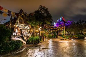 Hintergrundbilder Vereinigte Staaten Disneyland Park Kalifornien Anaheim HDRI Design Nacht Städte